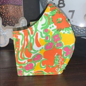 Lilly Print  Adult Face Mask